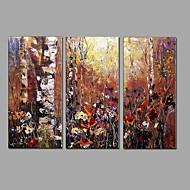 Pintados à mão Paisagem Horizontal,Moderno Estilo Europeu 3 Painéis Tela Pintura a Óleo For Decoração para casa