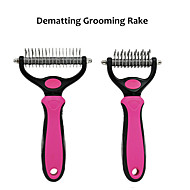 Cat Dog Dematting  Pet Grooming Comb with 2 Sided Professional Grooming Rake