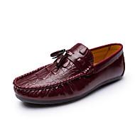 Mocassins masculins&Slip-ons printemps été moccasin cuir décontracté rouge marron noir
