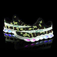 LED's Shoes Girls' Boys' Sneakers Spring Summer Fall Light Up Shoes Customized Materials Outdoor Athletic Casual Flat Heel Zipper Lace-upBlack/Green