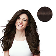 9Pcs/Set Deluxe 120g #2 Dark Brown Clip In Hair Extensions 16Inch 20Inch 100% Human Hair