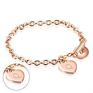 I love hot supply South Korea rose gold bracelet titanium female Christmas boutique can be lettering GS847