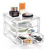 קופסאות אחסון מיכלים מגירות מארגני ארונות ארגון ארון מארגני תכשיטים קופסאות תכשיטים אחסון מייקאפ מארגני שולחן פלסטיק עםמאפיין הוא נשיאה ,