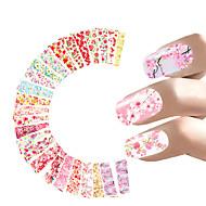 24 Adesivos para Manicure Artística Transferência de água adesivo maquiagem Cosméticos Designs para Manicure