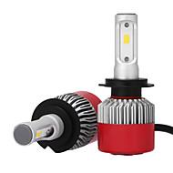 2pcs 12v h7 csp conduit voiture phare kit voiture phare auto remplaçant xénon ampoules h7 tête lampe led puces auto led phare