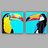 Ručně malované Zvíře Dva panely PlátnoHome dekorace