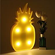 3d led natt lys ananas natt lampe romantisk bordlampe markiser hjem christmas innredning ledet nattlys