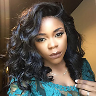 10''-16'' Top Glueless Lace Front Human Hair Short Bob Wigs with Baby Hair 100% Brazilian Loose Wave Virgin Hair with Natural Hairline for Black Women