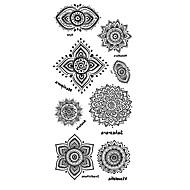 Tatoveringsklistremerker Totem Serier Mønster Korsryggen VanntettDame Herre Tenåring Flash-tatovering midlertidige Tatoveringer