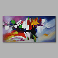 """Ready to hang Stretched Hand-Painted Oil Painting Canvas  40""""x20"""" Wall Art Abstract Purple Yellow Red Blue"""