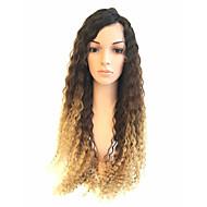 Brasileiro ombre loiro cabelo humano ondulado perucas de renda cheia virgem cabelo humano raizes negras ombre loura glueless perucas de