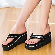 Γυναικείο Παντόφλες & flip-flops Ύφασμα Καλοκαίρι Creepers Μαύρο Κόκκινο 5εκ - 7εκ