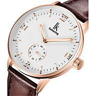 Men's Fashion Watch Mechanical Watch Automatic self-winding Water Resistant / Water Proof Noctilucent Leather Band Brown