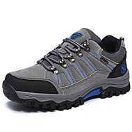 Erkek Atletik Ayakkabılar Rahat Süet Bahar Sonbahar Atletik Dağ Yürüyüşü Rahat Düz Topuk Gri Düz
