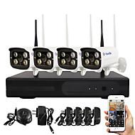 Yanse® plug and play câmera de rede sem fio nvr kits ir visão noturna segurança wifi ip sistema de câmera dvr (hdmi / 720p / p2p)