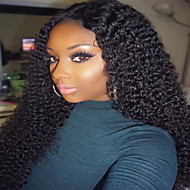 Kudrnaté kudrnaté plné krajkové paruka 100% lidské panenské vlasy přírodní barva paruka s dětskými vlasy pro černé ženy