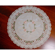 Embroidery Cutwork Round Lace Tableclothhome decor wedding decoration 90cm