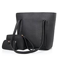 női táska állítja pu minden évszakban vásárló cipzár barna, szürke piruló rózsaszín piros fekete