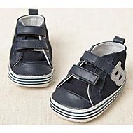 תינוק שטוחות צעדים ראשונים סוויד אביב סתיו קזו'אל הליכה צעדים ראשונים סקוטש עקב נמוך כחול כהה שטוח