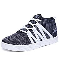 ユニセックス スニーカー カップルの靴 チュール 夏 カジュアル ホワイト フクシャ ピンク ブラックとホワイト 1~1 3/4インチ