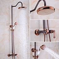 עתיק מודרני מקלחת בלבד מקלחת גשם ראש ברז נשלף קדם שטיפה with  שסתום קרמי שני חורי ידית אחת for  Oil-rubbed Bronze , ברז למקלחת