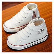 Djevojčice Sneakers Udobne cipele Platno Proljeće Jesen Kauzalni Udobne cipele Životinjski uzorak Ravna potpetica Obala Crvena Plava Ravne