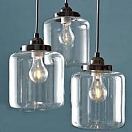 Luzes Pingente ,  Contemprâneo Outro Característica for Proteção para os Olhos Vidro Sala de Estar Interior 3 lâmpadas