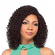 Afro Kinky Tranças Jerry Enrolado fibra sintética Loiro Morango médio Auburn Preto / Medium Auburn Preto Marrom Médio Extensões de cabelo