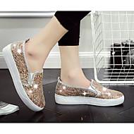 Damen Flache Schuhe Komfort Leinwand PU Frühling Lässig Gold Schwarz Silber Flach