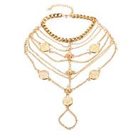 Dames Enkelring /Armbanden Legering Modieus Turks Kostuum juwelen Knoop Sieraden Voor Dagelijks Causaal