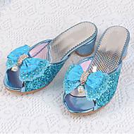Tyttöjen Tasapohjakengät Comfort Kengät kukkaistytölle Tekonahka Kesä Syksy Kausaliteetti Puku Comfort Kengät kukkaistytölle Paljeteilla
