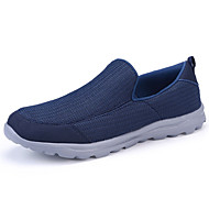 Men's Loafers & Slip-Ons Comfort Light Soles Fabric Spring Summer Casual Outdoor Flat HeelGray Dark Blue Walking Shoes