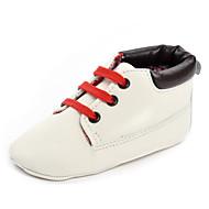 Baby Flate sko Komfort Kunstlær Vår Høst Bryllup Avslappet Fest/aften Komfort Kombinasjon Strikk Flat hæl Hvit Mørkeblå Rosa Kakifarget