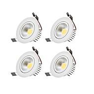 LED Encastrées Blanc Chaud Blanc Froid LED Ampoule incluse 4 pièces