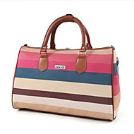 Women Bags All Seasons PU Travel Bag with for Casual Sports Outdoor Blue Coffee Clover Brown Rainbow