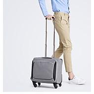Unisex Gepäck Polyester Ganzjährig Normal Reißverschluss Schwarz Grau Black Grey Dunkelgrau