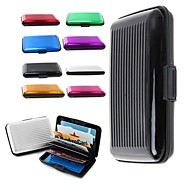 Deluxe Aluma Case Wallet Credit Card Holder Protect RFID Scanning Metal Ramdon Color
