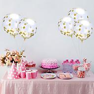1pcs 12 inches gjennom lyse stykke konfetti ballonger aluminiumsfolie ballonger ferie fest ballong ekteskap rom dekorasjon