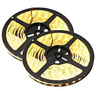 80 Вт Гибкие светодиодные ленты 7650-7750 lm DC12 V 10 м 300 светодиоды Теплый белый белый