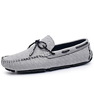 Unisex Boat Shoes Moccasin Summer Fall Suede Casual Dress Party & Evening Office & Career Flat Heel Black Gray Khaki Flat