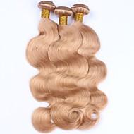Emberi haj Perui haj Precolored Hair sző Hullámos haj Póthajak 3 darab Eperszőke