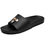 Muške Sandale Udobne cipele PU Ljeto Obala Crn žuta Ravne