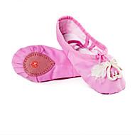Naiset Baletti Canvas Matalat Suoritus Faux Pearl Tasapohja Fuksia Punainen Vihreä Sininen Pinkki Alle 2,5 cm
