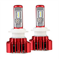 Nighteye 2pcs / set voiture phares h7 conduit ampoule automatique 60w 8000lm automobile lampe de poche 6000k 12v conduit blub h7 led
