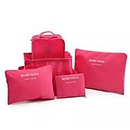 6pcs Inpak-organizer Opbergproducten voor op reis Bagage-accessoire voor Opbergproducten voor op reis Bagage-accessoire Nylon-Rood Groen