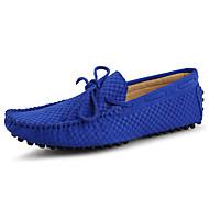 Férfi cipő Valódi bőr Bőr Tavasz Nyár Mokaszin Vitorlás cipők Kompatibilitás Hétköznapi Fekete Sötétkék Kék
