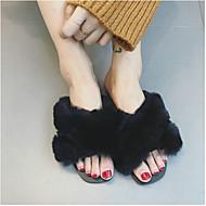 Dámské Pantofle a Žabky Pohodlné Semiš Jaro Ležérní Pohodlné Černá Šedá Růžová Plochý