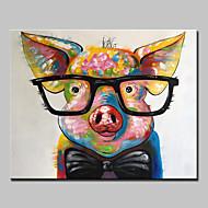 Pintados à mão Animal Horizontal,Abstracto Modern 1 Painel Tela Pintura a Óleo For Decoração para casa