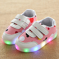 Meisjes Sneakers Oplichtende schoenen Leer Tule Lente Zomer Herfst Causaal Wandelen Oplichtende schoenen Magic tape LED Lage hakLicht