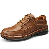 Unissex Oxfords Sapatos formais Pele Napa Outono Inverno Social Festas & Noite Sapatos formais Castanho Claro 5 a 7 cm